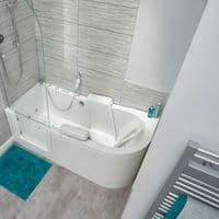 The Easy Riser Low Level Access Walk-in Bath 1700mm x 750mm BioCote Antimicrobia Tub